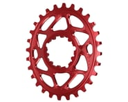 Absolute Black Spiderless GXP Direct Mount Oval Ring (Red) (Boost) | product-related