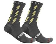 Castelli Men's Pazzo 18 Socks (Dark Grey/Yellow)   product-related