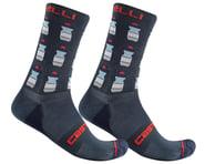 Castelli Men's Pazzo 18 Socks (Savile Blue)   product-related