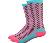 """DeFeet Aireator 6"""" Barnstormer Vibe Socks (Neptune/Flamingo Pink) 