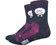 """DeFeet Woolie Boolie 4"""" Baaad Sheep Sock (Charcoal/Neon Pink)   product-also-purchased"""