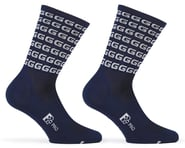 """Giordana FR-C Tall """"G"""" Socks (Blue/White) (M) 