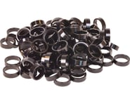 """Wheels Manufacturing 1-1/8"""" Headset Spacers (Black) (100) 