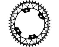 Absolute Black Asymmetric Gravel 1X Oval Chainring (Black) (110mm BCD)
