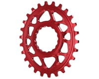 Absolute Black Direct Mount Race Face Cinch Oval Ring (Red)