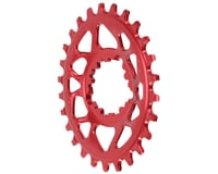 Absolute Black Spiderless GXP Direct Mount Oval Ring (Red)