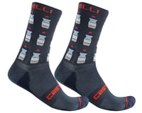 Castelli Men's Pazzo 18 Socks (Savile Blue)