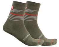 Castelli Men's Lancio 15 Socks (Military Green)