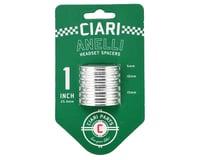 "Ciari Anelli 1"" Headset Spacer Kit (Silver)"