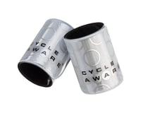 Cycleaware Slap and Wrap Pant Leg Bands (Silver)