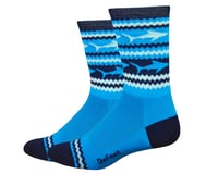 "DeFeet Aireator 6"" Socks (Blue/White)"