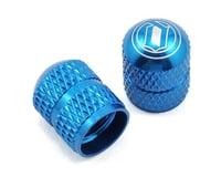 Deity Crown Schrader Valve Caps (Blue) (2)
