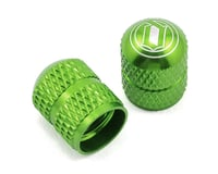 Deity Crown Schrader Valve Caps (Green) (2)