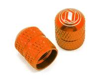 Deity Crown Schrader Valve Caps Orange