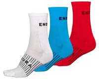 Endura Coolmax Race Sock (Triple Pack) (Red/White/Blue)