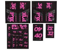 Fox Suspension Heritage Decal Kit for Forks & Shocks (Pink)