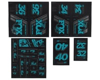 Fox Suspension Heritage Decal Kit for Forks & Shocks (Turqoise)