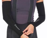 Giordana Knitted Dryarn Arm Warmers (Black)