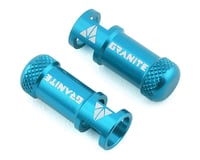 Granite-Design Juicy Nipples Presta Valve Core Remover Caps (Blue) (2)