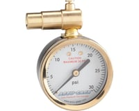 Meiser Presta-Valve Dial Gauge w/ Pressure Relief (30psi)