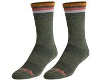 Pearl Izumi Merino Thermal Wool Socks (Forest/Sherbert Stripe)