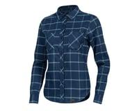 Pearl Izumi Women's Rove Long Sleeve Shirt (Navy/Aquifer Plaid)
