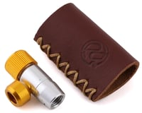 Portland Design Works Tiny Object CO2 Inflator (Silver/Gold) (w/ Leather Holder)