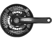 Shimano Tourney FC-TY501 Crankset (Black) (3 x 6/7/8 Speed) (Square Taper)
