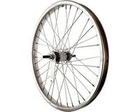 """Sta-Tru Rear Wheel (Silver) (20"""") (Coaster Brake) (36 Spokes) (Steel Rim) (Solid Axle)"""
