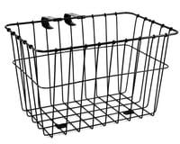 Wald 135 Bolt-On Front Bike Grocery Basket (Black)