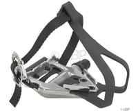 "Wellgo LU-961 Pedals/Toe Clip Combo (Silver) (Aluminum) (9/16"")"