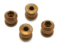 Wolf Tooth Components Dual Hex Fitting Chainring Bolts (Gold) (6mm) (4)