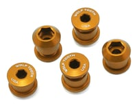 Wolf Tooth Components Dual Hex Fitting Chainring Bolts (Gold) (6mm) (5)