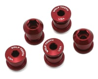 Wolf Tooth Components Dual Hex Fitting Chainring Bolts (Red) (6mm) (5)