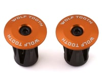 Wolf Tooth Components Alloy Bar End Plugs (Orange)