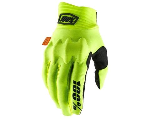 100% Cognito D30 Full Finger Gloves (Fluo Yellow/Black) (S)