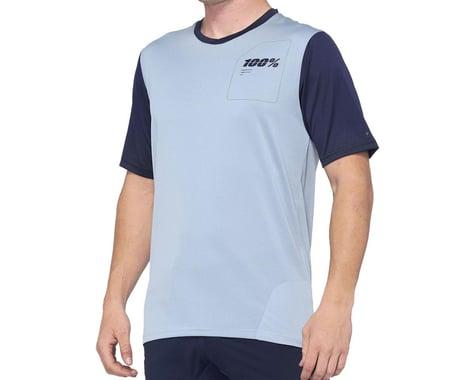 100% Ridecamp Men's Short Sleeve Jersey (Light Slate/Navy) (S)