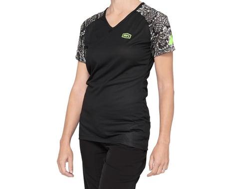 100% Women's Airmatic Jersey (Black Python) (S)