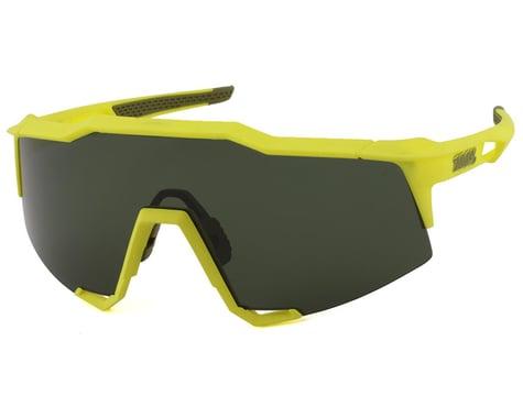 100% SpeedCraft Sunglasses (Soft Tact Banana) (Grey Green Lens)