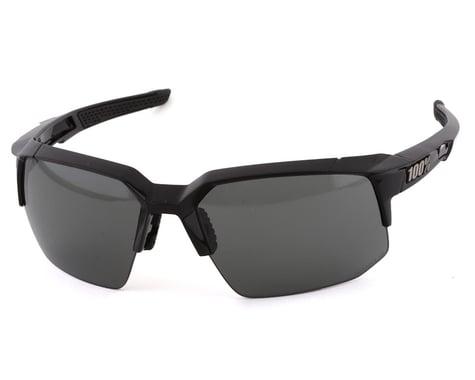 100% Speedcoupe Sunglasses (Polished Black) (Grey PeakPolar Lens)