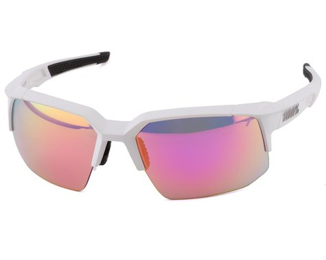 100% Speedcoupe Sunglasses (Soft Tact Off White) (Purple Multilayer Mirror Lens)