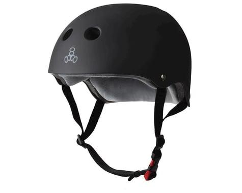 Triple Eight Certified Sweatsaver Helmet (Black Rubber) (Large/Extra Large)