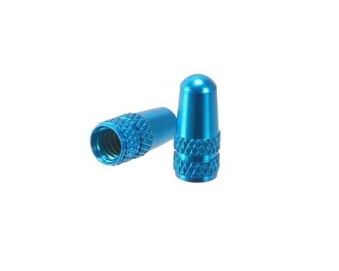 Alligator Alloy Presta Valve Caps (Blue) (2)