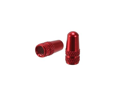 Alligator Alloy Presta Valve Caps (Red) (2)