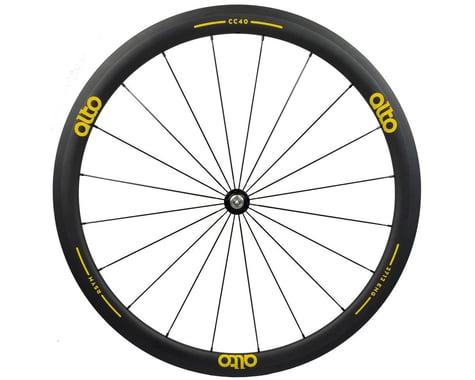 Alto Wheels CC40 Carbon Front Clincher Road Wheel (Yellow)