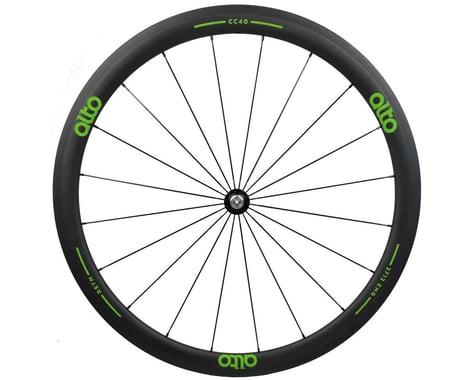 Alto Wheels CT40 Carbon Front Road Tubular Wheel (Green)