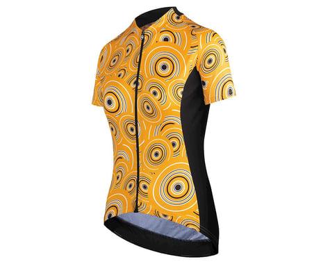 Assos Women's UMA GT Short Sleeve Jersey (Camou Orange Borealis) (L)