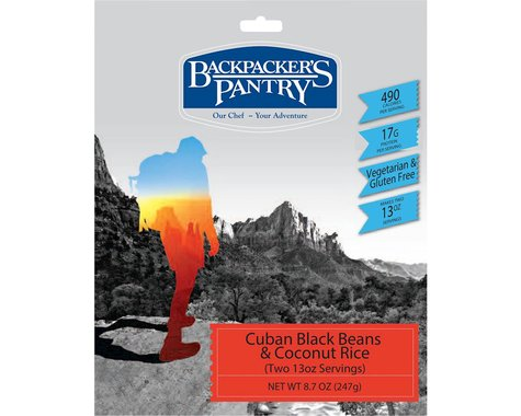 Backpacker's Pantry Cuban Coconut Black Beans and Rice (2 Servings)