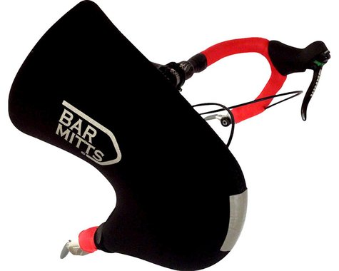 Bar Mitts Bar End Shifter Pogie Handlebar Mittens (Black) (One Size Fits Most)