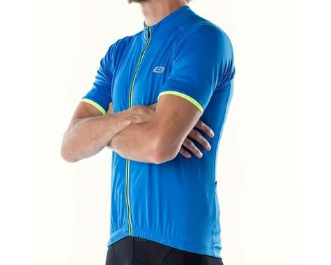 Bellwether Classic Criterium Pro Cycling Jersey (Cyan Blue/Yellow) (S)
